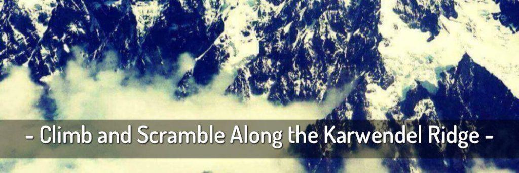 Climb along the Karwendel Ridge
